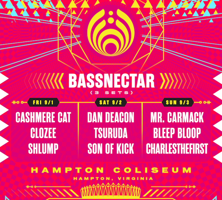 Bassnectar presents Bass Center X - Hampton VA