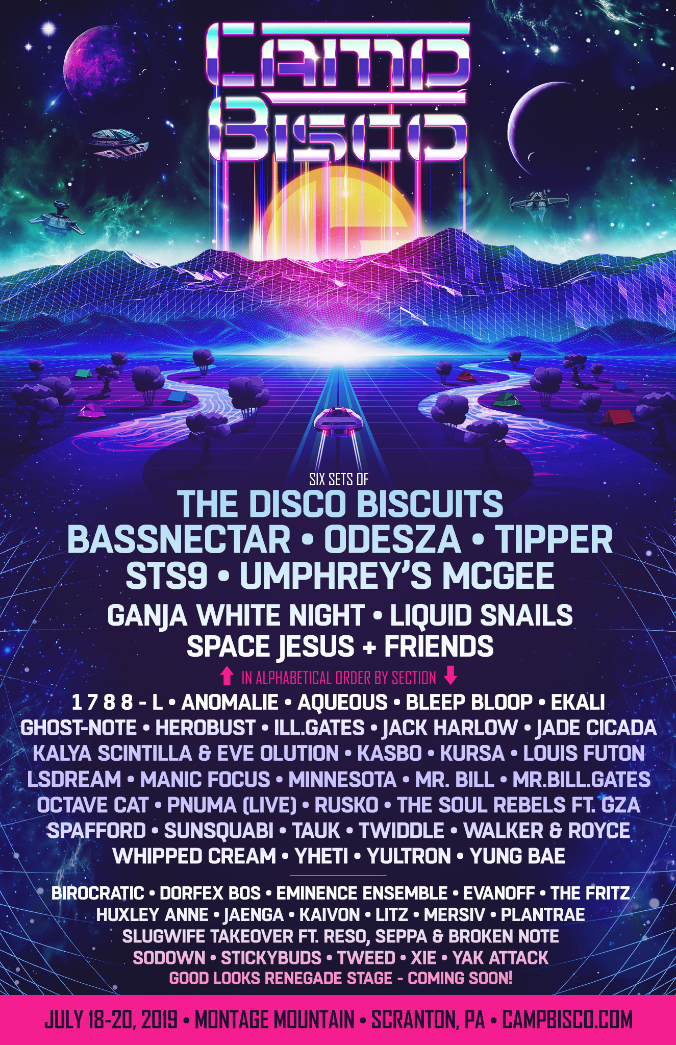 Bassnectar at Camp Bisco 2019