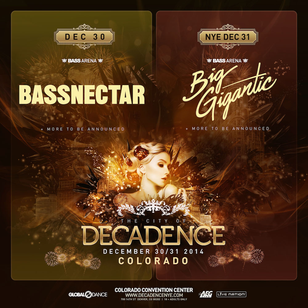 Bassnectar - Decadence 2014 - Denver CO - NVSB Tour 2014