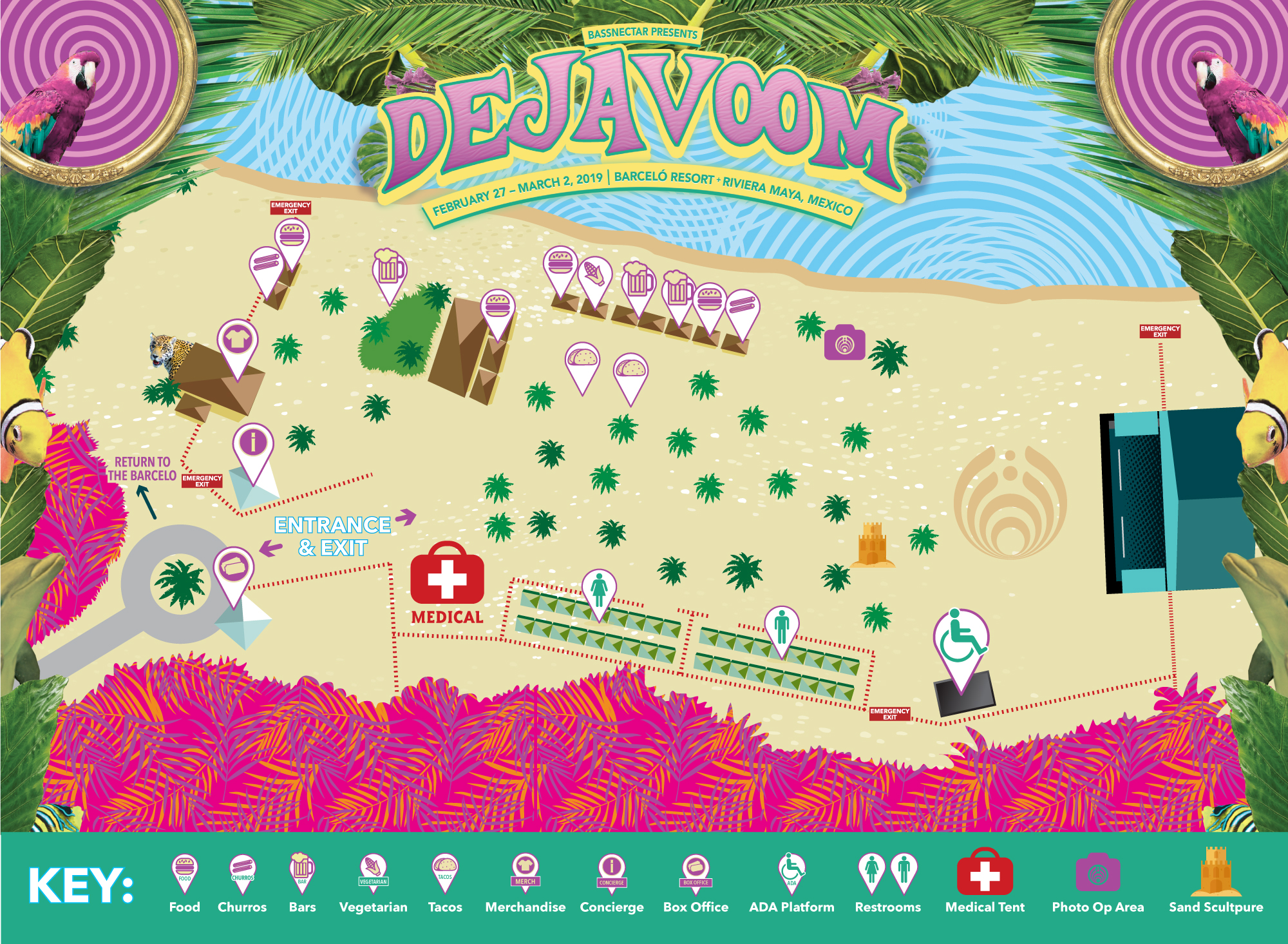 Deja Voom Map - Beach Stage