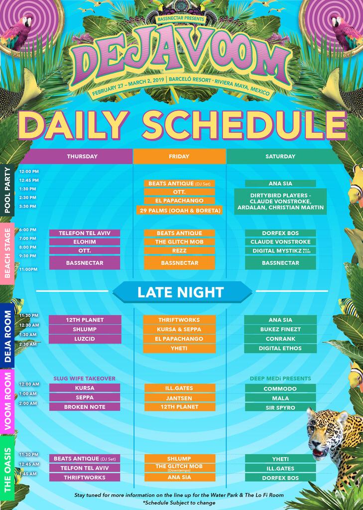 Deja Voom - Daily Schedule