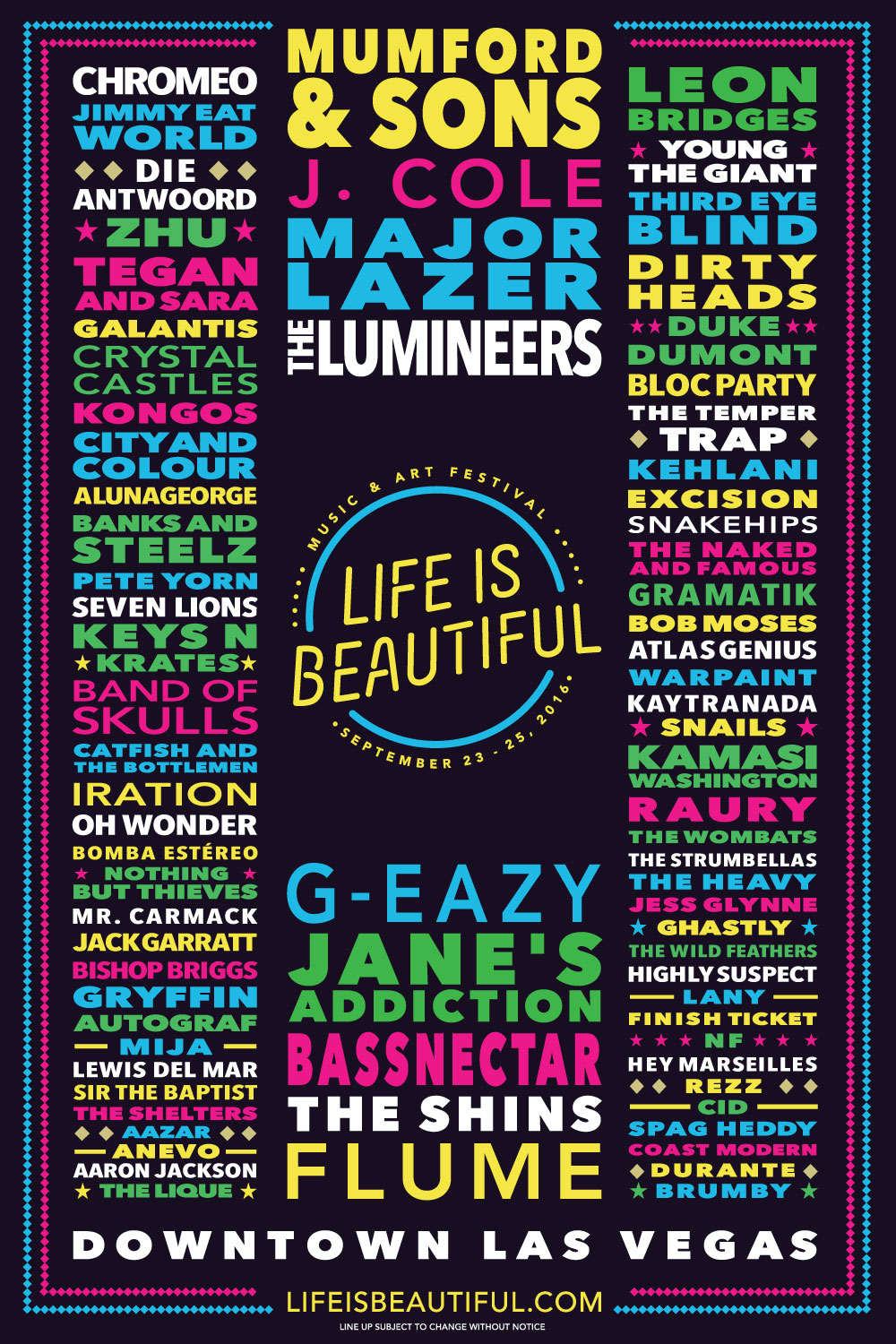 Bassnectar @ Life Is Beautiful 2016