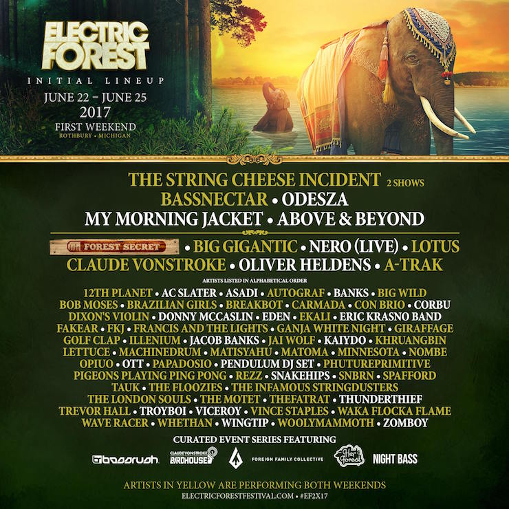 Bassnectar @ Electric Forest 2017 Second Weekend